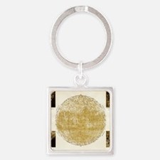 19th century map of the Moon Square Keychain