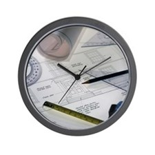 Architectural drawings Wall Clock