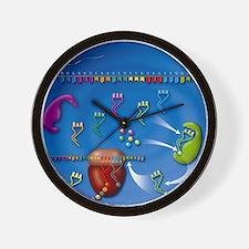 Protein translation, artwork Wall Clock