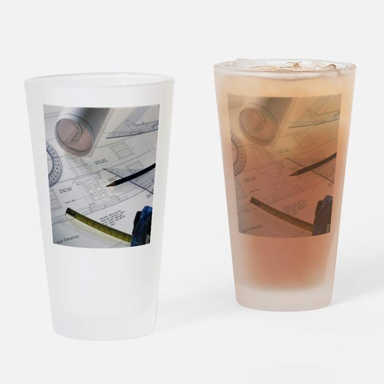 Architectural drawings Drinking Glass