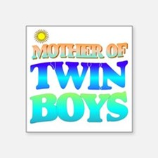 "Twin boys mother Square Sticker 3"" x 3"""