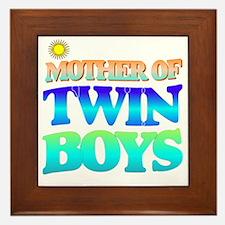 Twin boys mother Framed Tile