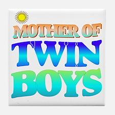 Twin boys mother Tile Coaster