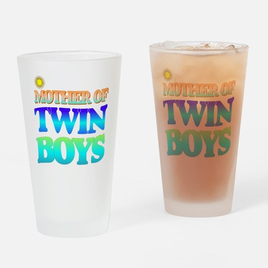 Twin boys mother Drinking Glass