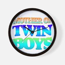 Twin boys mother Wall Clock
