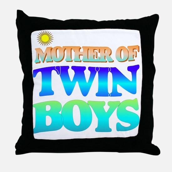 Twin boys mother Throw Pillow