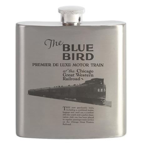 Blue Bird Flask