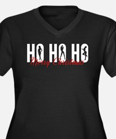 Ho Ho Ho Merry Christmas Women's Plus Size V-Neck