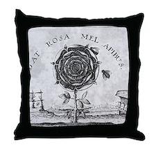 Rosicrucian mystical symbol Throw Pillow