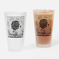 Rosicrucian mystical symbol Drinking Glass