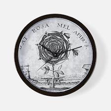 Rosicrucian mystical symbol Wall Clock