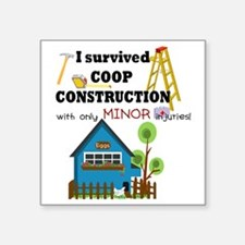 """Survived with minor injurie Square Sticker 3"""" x 3"""""""