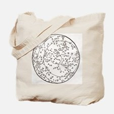 Star map using Hebrew characters Tote Bag