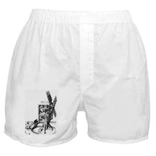 Cut-away artwork of a windmill for gr Boxer Shorts