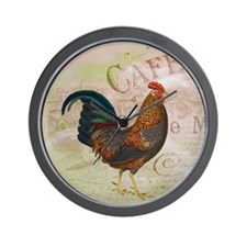 Cafe Rooster Wall Clock