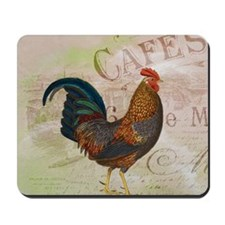 Cafe Rooster Mousepad