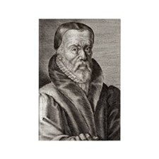 William Tyndale, English scholar Rectangle Magnet