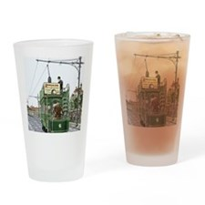 Early electric tram Drinking Glass