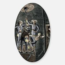 19th-century coal mining Sticker (Oval)