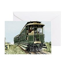 Early electric train Greeting Card