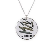 Shut up and color! Necklace Circle Charm