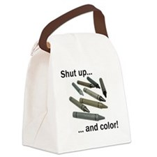 Shut up and color! Canvas Lunch Bag