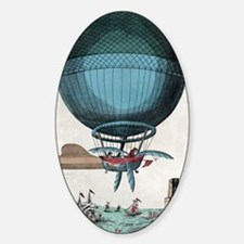 English Channel balloon crossing, 1 Sticker (Oval)