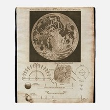 Early map of the Moon, 1810 Throw Blanket