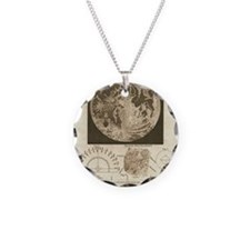 Early map of the Moon, 1810 Necklace