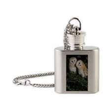 Barn owls Flask Necklace