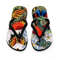Butterflies, artwork Flip Flops