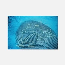 Fingerprint, computer artwork Rectangle Magnet