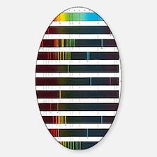 Flame emission spectra of alkali me Sticker (Oval)