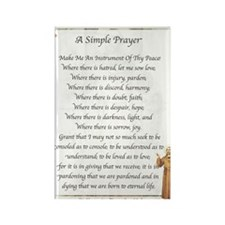 Saint Pope Francis Simple Prayer Rectangle Magnet