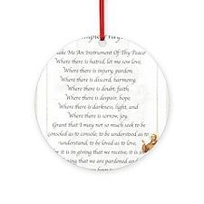 Saint Pope Francis Simple Prayer Round Ornament