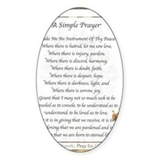 Saint Pope Francis Simple Prayer Decal