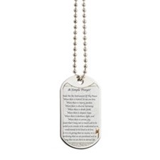 Saint Pope Francis Simple Prayer Dog Tags