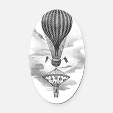 Balloon and parachute Oval Car Magnet