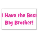 I Have the Best Big Brother - Sticker (Rectangular
