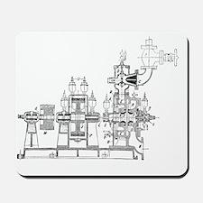 De Laval steam turbine Mousepad