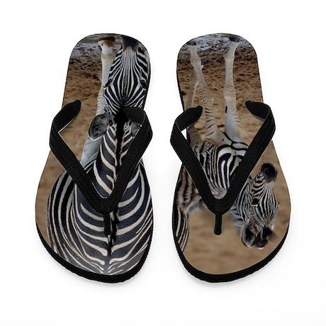 Burchell's zebra with foal Flip Flops