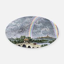 Rainbow optics, historical artwork Oval Car Magnet