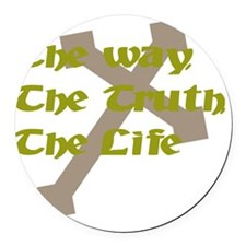 The Way, The Truth, The Life Round Car Magnet