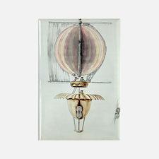Early hot air balloon design, 178 Rectangle Magnet