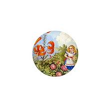 Alice Talking Flowers_SQ Mini Button