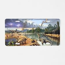 Early Cretaceous life, artw Aluminum License Plate