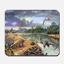 Early Cretaceous life, artwork Mousepad