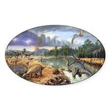 Early Cretaceous life, artwork Decal