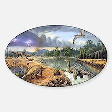 Early Cretaceous life, artwork Decal