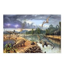 Early Cretaceous life, ar Postcards (Package of 8)